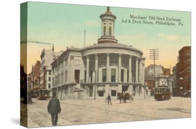Merchants Old Stock Exchange, Philadelphia, Pennsylvania--Stretched Canvas Print
