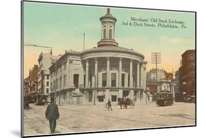Merchants Old Stock Exchange, Philadelphia, Pennsylvania--Mounted Art Print