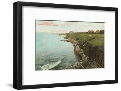 Cliff Walk, Breakers, Newport, Rhode Island--Framed Art Print