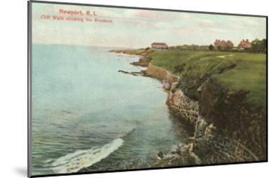 Cliff Walk, Breakers, Newport, Rhode Island--Mounted Art Print