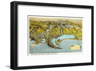 Relief Map Of San Diego California Art Print By Art Com