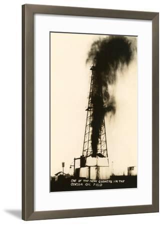 Oil Well Gusher, Odessa, Texas--Framed Art Print