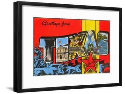 Greetings from Texas--Framed Art Print