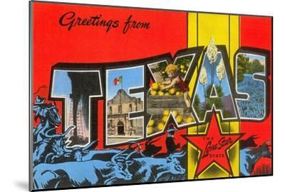 Greetings from Texas--Mounted Art Print