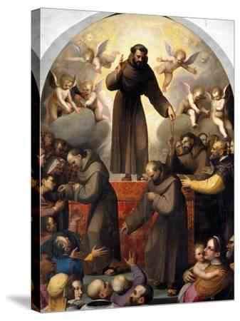 Glory of Saint Francis-Jacopo Ligozzi-Stretched Canvas Print