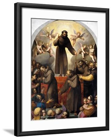 Glory of Saint Francis-Jacopo Ligozzi-Framed Giclee Print