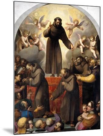 Glory of Saint Francis-Jacopo Ligozzi-Mounted Giclee Print