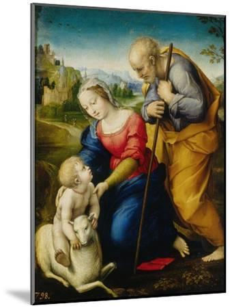 Holy Family of the Cordero-Raphael-Mounted Giclee Print