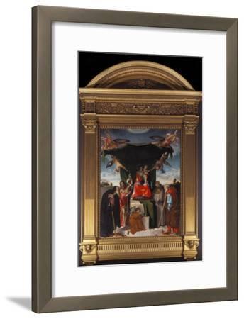 Madonna Del Baldacchino-Lorenzo Lotto-Framed Giclee Print