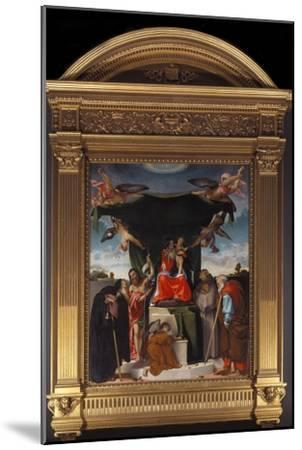 Madonna Del Baldacchino-Lorenzo Lotto-Mounted Giclee Print
