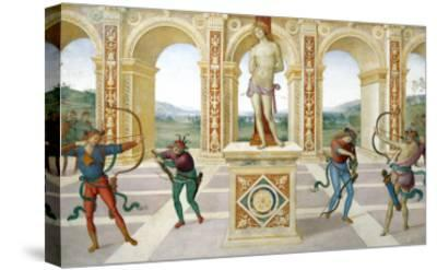 Martyrdom of Saint Sebastian-Pietro Perugino-Stretched Canvas Print