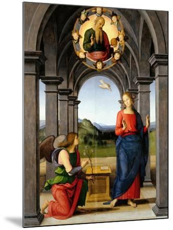Annunciation-Pietro Perugino-Mounted Giclee Print