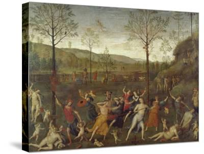Combat of Love and Chastity-Pietro Perugino-Stretched Canvas Print