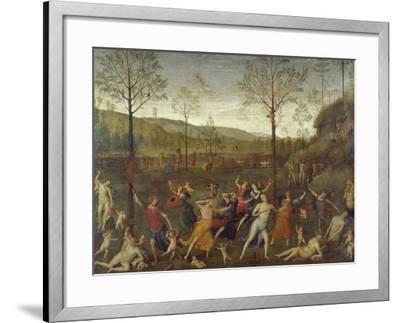 Combat of Love and Chastity-Pietro Perugino-Framed Giclee Print