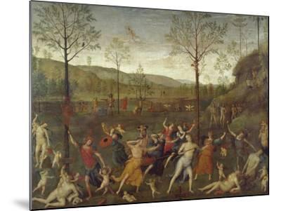 Combat of Love and Chastity-Pietro Perugino-Mounted Giclee Print
