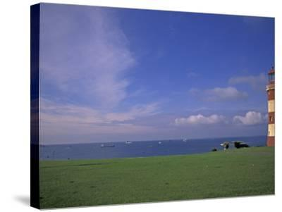 Lighthouse of Plymouth Hoe, Plymouth, England-Nik Wheeler-Stretched Canvas Print