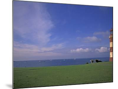 Lighthouse of Plymouth Hoe, Plymouth, England-Nik Wheeler-Mounted Photographic Print