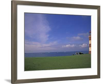 Lighthouse of Plymouth Hoe, Plymouth, England-Nik Wheeler-Framed Photographic Print