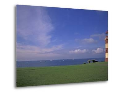 Lighthouse of Plymouth Hoe, Plymouth, England-Nik Wheeler-Metal Print