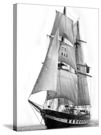 Sail Training Ship Royalist, March 1976--Stretched Canvas Print