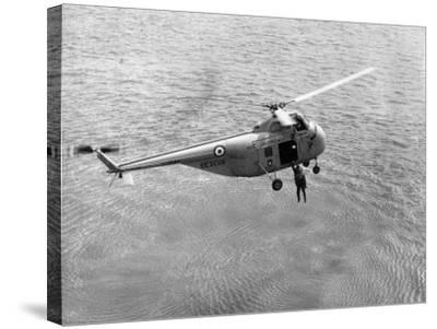 Royal Air Force Coastal Command Rescue Helicopters in Action--Stretched Canvas Print