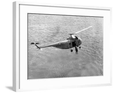 Royal Air Force Coastal Command Rescue Helicopters in Action--Framed Photographic Print