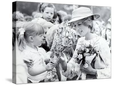 Princess Diana of Wales Visit to Open the Fisher Price Toy Factory in Peterlee--Stretched Canvas Print