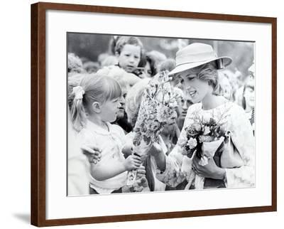 Princess Diana of Wales Visit to Open the Fisher Price Toy Factory in Peterlee--Framed Photographic Print
