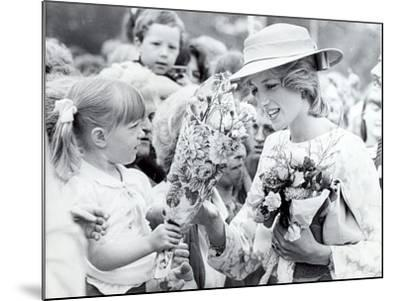 Princess Diana of Wales Visit to Open the Fisher Price Toy Factory in Peterlee--Mounted Photographic Print