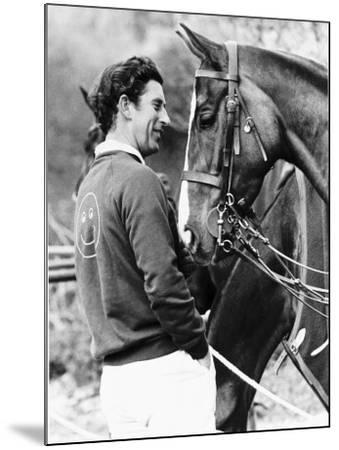 Prince Charles with His Polo Pony Pan's Folly May 1977--Mounted Photographic Print