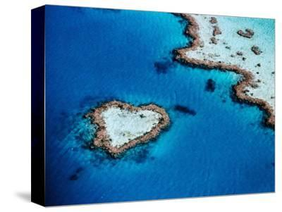 Heart-Shaped Reef, Hardy Reef, Near Whitsunday Islands, Great Barrier Reef, Queensland, Australia-Holger Leue-Stretched Canvas Print