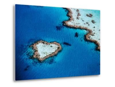 Heart-Shaped Reef, Hardy Reef, Near Whitsunday Islands, Great Barrier Reef, Queensland, Australia-Holger Leue-Metal Print