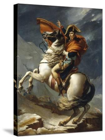 Napoleon Crossing the Alps-Jacqueline David-Stretched Canvas Print