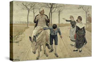 The Miller, His Son and the Donkey-Ferdinand Hodler-Stretched Canvas Print