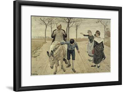 The Miller, His Son and the Donkey-Ferdinand Hodler-Framed Giclee Print