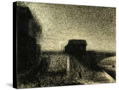 The Bridge of Courbevoie-Georges Seurat-Stretched Canvas Print