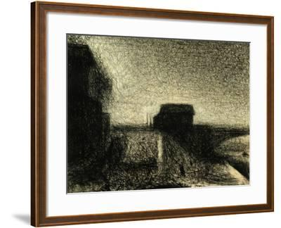 The Bridge of Courbevoie-Georges Seurat-Framed Giclee Print