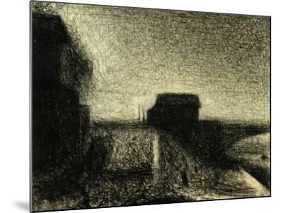 The Bridge of Courbevoie-Georges Seurat-Mounted Giclee Print