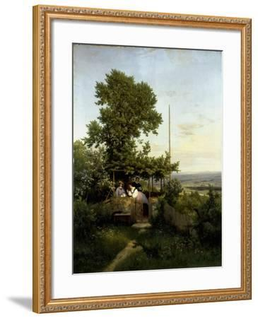 View of the Elbe Valley-Eduard Leonhardi-Framed Giclee Print