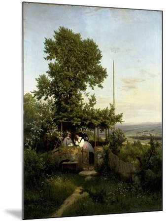 View of the Elbe Valley-Eduard Leonhardi-Mounted Giclee Print