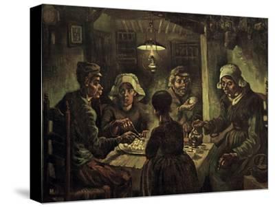 The Potato Eaters-Vincent van Gogh-Stretched Canvas Print