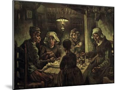 The Potato Eaters-Vincent van Gogh-Mounted Giclee Print