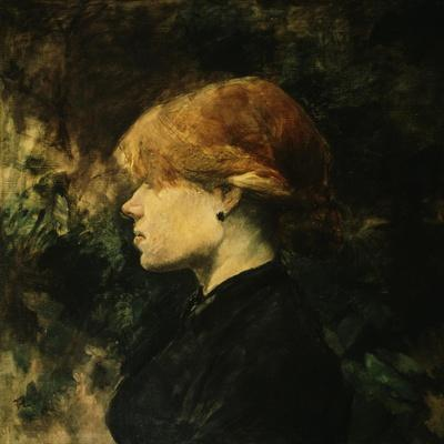 Young Woman With Red Hair-Henri de Toulouse-Lautrec-Stretched Canvas Print