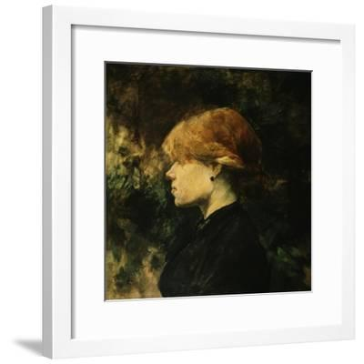 Young Woman With Red Hair-Henri de Toulouse-Lautrec-Framed Giclee Print