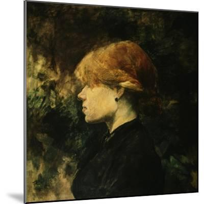 Young Woman With Red Hair-Henri de Toulouse-Lautrec-Mounted Giclee Print