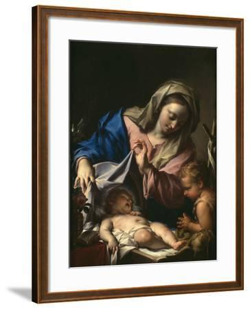 Madonna With Child and Saint John-Francesco Trevisani-Framed Giclee Print