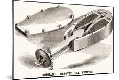 Rodman's Improved Car Bumper--Mounted Art Print