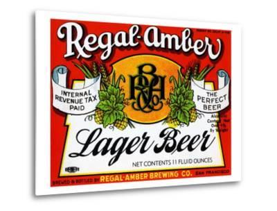 Regal-Amber Lager Beer--Metal Print