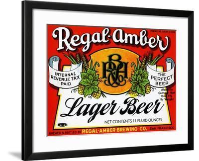 Regal-Amber Lager Beer--Framed Art Print