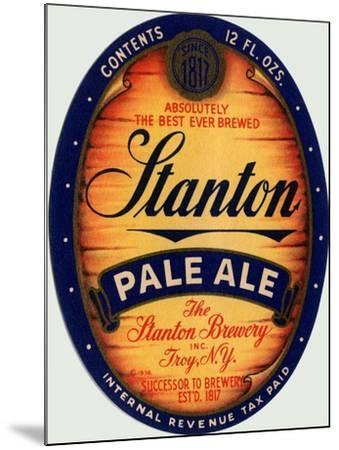 Stanton Pale Ale Beer--Mounted Art Print